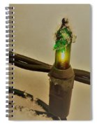 Christmas Fairy Lights On Snow Spiral Notebook