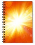 Explosive Background  Spiral Notebook