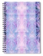 Floral Abstract Design-special Silk Fabric Spiral Notebook