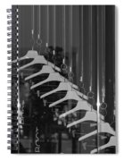 10 Hangers In Black And White Spiral Notebook