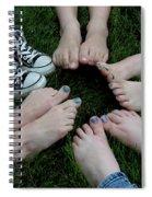 10 Kids Feet Spiral Notebook