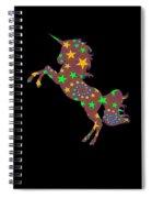 Rainbow Spiral Star Unicorn Design Poop Emoji Spiral Notebook
