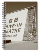 Route 66 - Drive-in Theatre Spiral Notebook