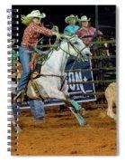 Steer Roping Spiral Notebook