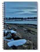 Sunset Over Obear Park In Snow Spiral Notebook