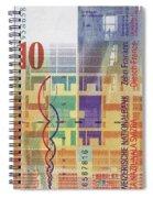 10 Swiss Franc Bill Spiral Notebook