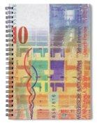 10 Swiss Franc Pop Art Bill Spiral Notebook