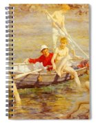 Tuke Henry Scott Ruby Gold And Malachite Henry Scott Tuke Spiral Notebook