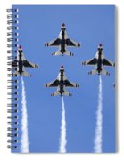 Us Air Force Thunderbirds Flying Preforming Precision Aerial Maneuvers Spiral Notebook