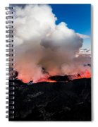 Volcano Eruption At The Holuhraun Spiral Notebook
