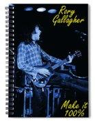 100 Percent Bullfrog Blues Spiral Notebook