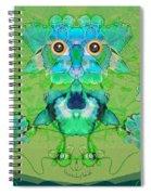 1045   Flower Owl 2017 Spiral Notebook
