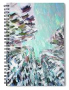 Abstract Digital Oil Painting Full Of Texture And Bright Color Spiral Notebook