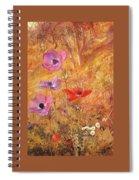 anemones 1876 Henry Roderick Newman Spiral Notebook