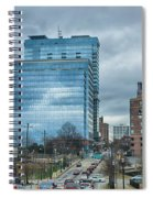 Atlanta Downtown Skyline Scenes In January On Cloudy Day Spiral Notebook