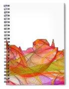 Augusta Maine Skyline Spiral Notebook