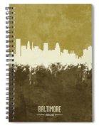 Baltimore Maryland Skyline Spiral Notebook