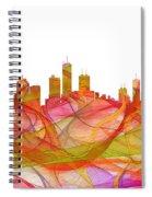 Honolulu Hawaii Skyline Spiral Notebook