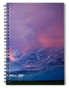 Nebraska Hp Supercell Sunset Spiral Notebook