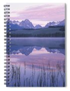 Reflection Of Mountains In A Lake Spiral Notebook