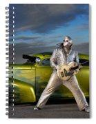 Silver Elvis Spiral Notebook