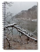 The Bass River In Winter Spiral Notebook