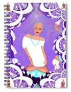 1103  Yoga Lady Fractal 2017 Spiral Notebook