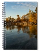 Autumn Beach - The Splendor Of Fall On The Shores Of Lake Ontario Spiral Notebook