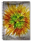 11262 Flower Abstract Series 02 #16a Spiral Notebook