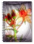 11305 Flower Abstract Series 03 #5 Spiral Notebook