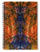 11450 Summer Fire Mask 32 Version 2 - God Of Fire Spiral Notebook
