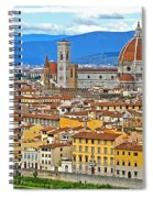 1167 Florence Italy Panorama Spiral Notebook