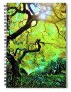 12 Abstract Japanese Maple Tree Spiral Notebook