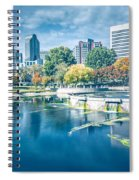 Charlotte North Carolina Cityscape During Autumn Season Spiral Notebook