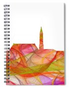 Cheyenne Wyoming Skyline Spiral Notebook
