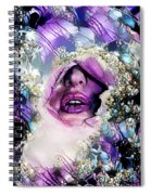 Hidden Face With Lipstick Spiral Notebook
