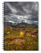 12000 Foot Flower Spiral Notebook