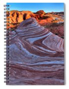 Fire Wave Panorama Spiral Notebook