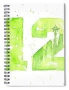 12th Man Seahawks Art Go Hawks Spiral Notebook