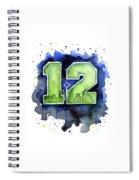 12th Man Seahawks Art Seattle Go Hawks Spiral Notebook