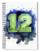 12th Man Seahawks Art Seattle Go Hawks Spiral Notebook