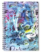 Abstract Calligraphy Spiral Notebook