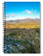 Aerial View On Mountains And Landscape Covered In Snow Spiral Notebook