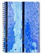 Blue Wood Spiral Notebook