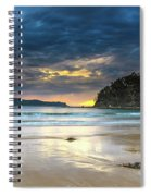 Cloudy Sunrise Seascape Spiral Notebook
