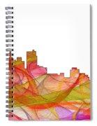 Detroit Michigan Skyline Spiral Notebook