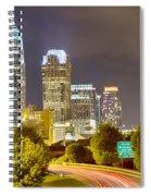 Downtown Of Charlotte  North Carolina Skyline Spiral Notebook
