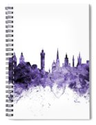 Glasgow Scotland Skyline Spiral Notebook