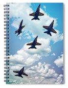 Navy Blue Angels Spiral Notebook