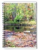 Pennsylvania Stream In Autumn Spiral Notebook